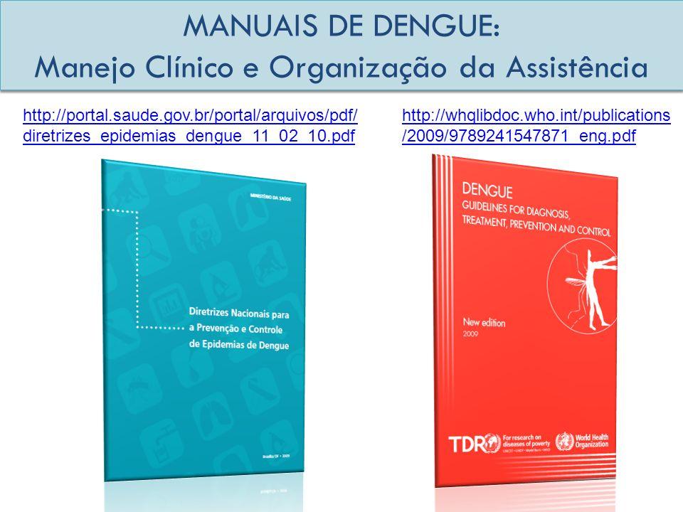 MANUAIS DE DENGUE: Manejo Clínico e Organização da Assistência