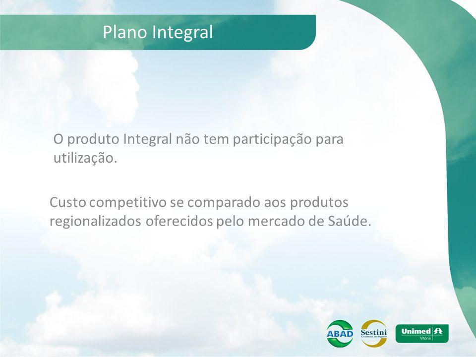 Plano Integral O produto Integral não tem participação para utilização.