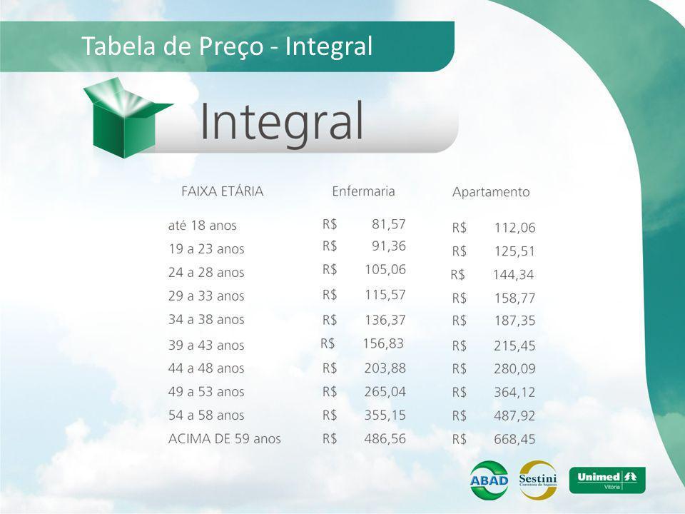 Tabela de Preço - Integral
