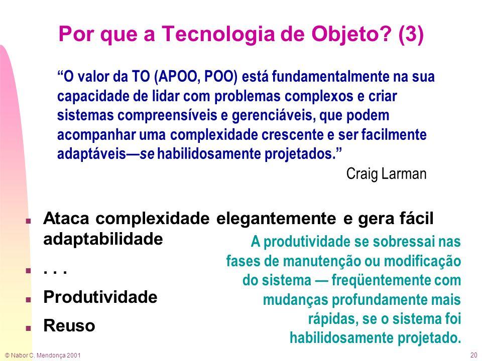 Por que a Tecnologia de Objeto (3)