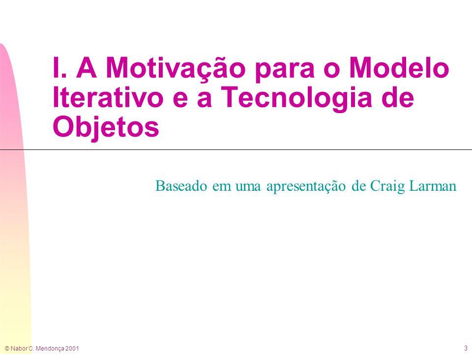 I. A Motivação para o Modelo Iterativo e a Tecnologia de Objetos