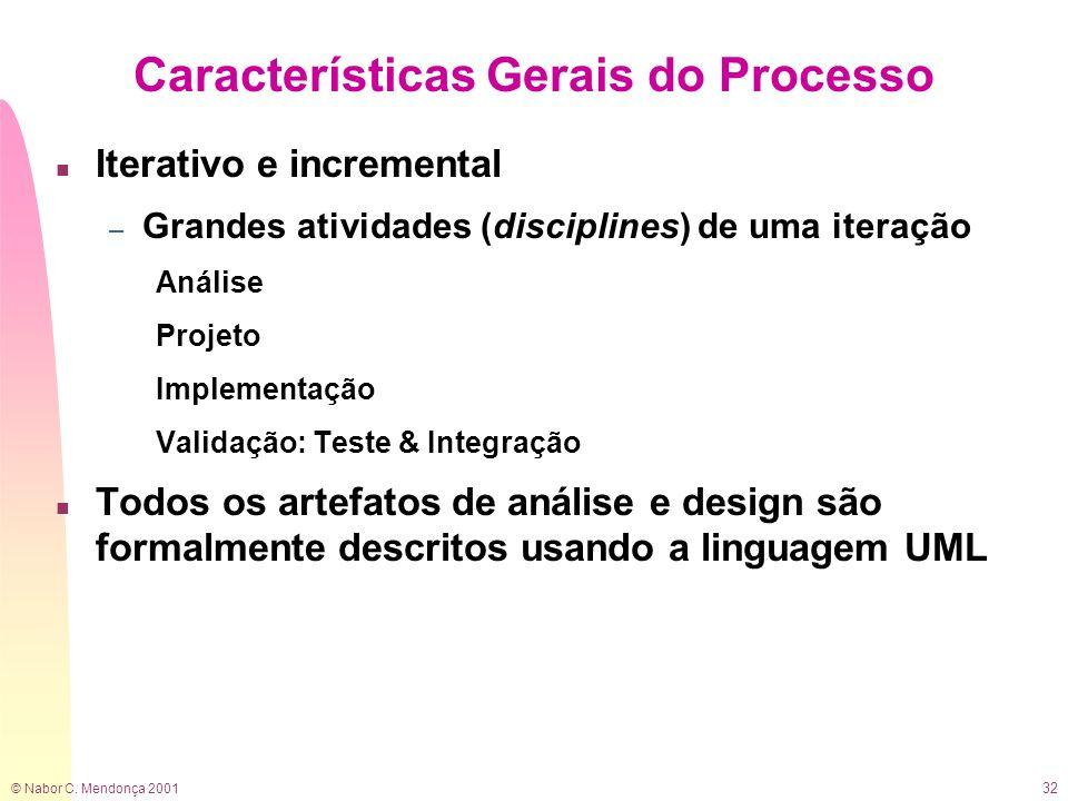 Características Gerais do Processo