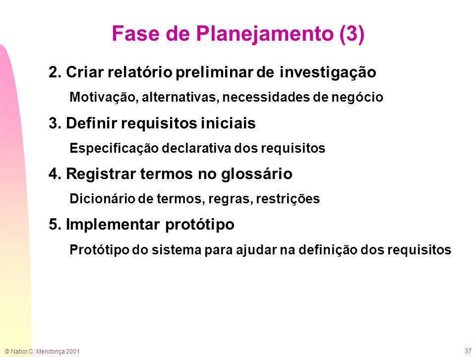 Fase de Planejamento (3)
