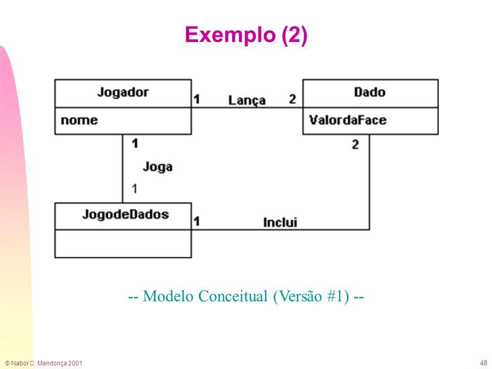 -- Modelo Conceitual (Versão #1) --