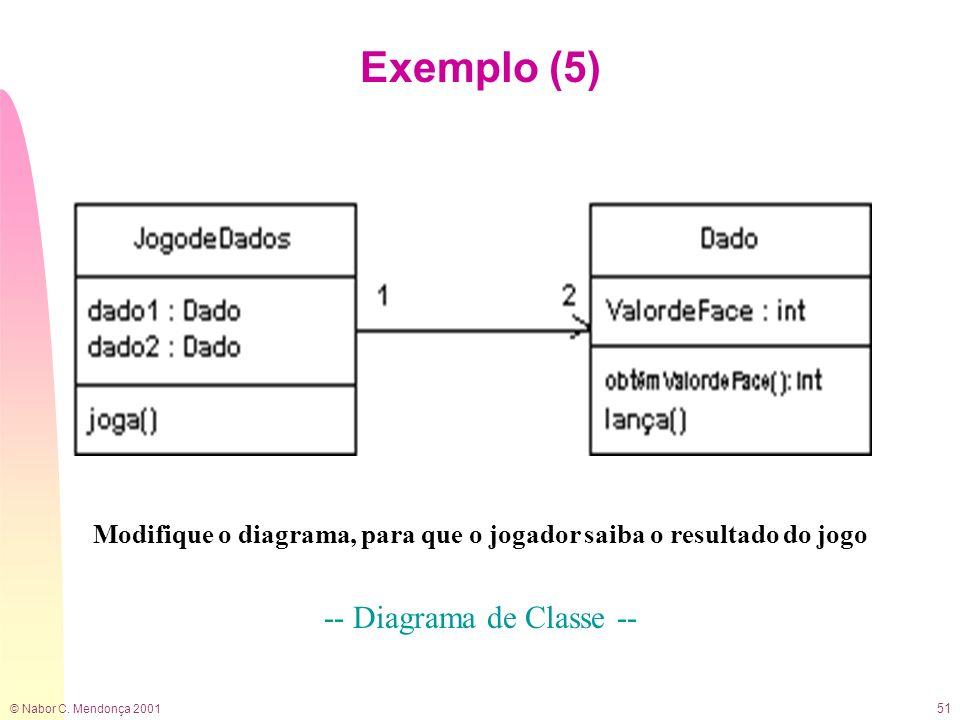 Modifique o diagrama, para que o jogador saiba o resultado do jogo