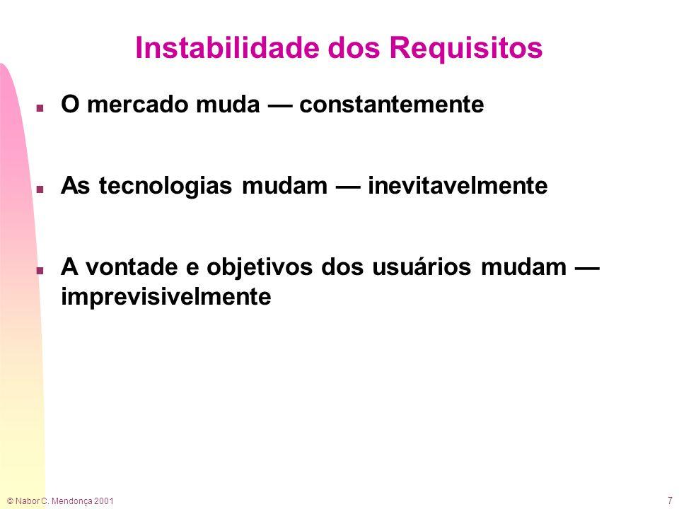 Instabilidade dos Requisitos