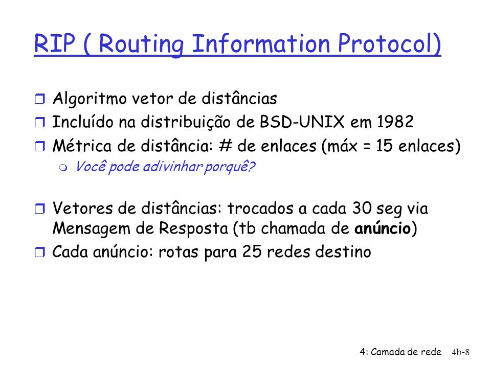RIP ( Routing Information Protocol)