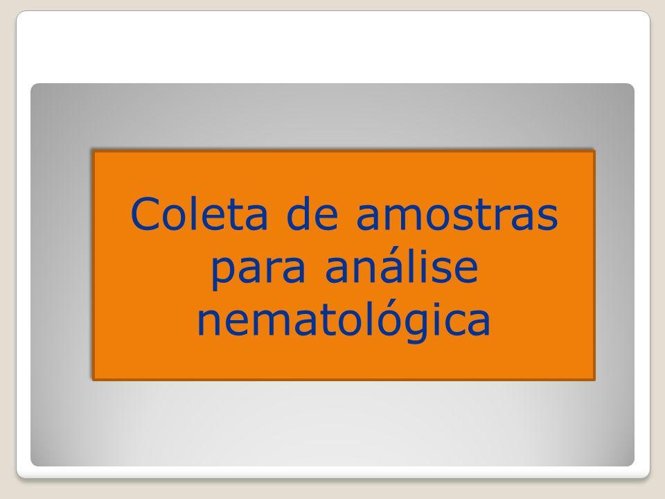 Coleta de amostras para análise nematológica