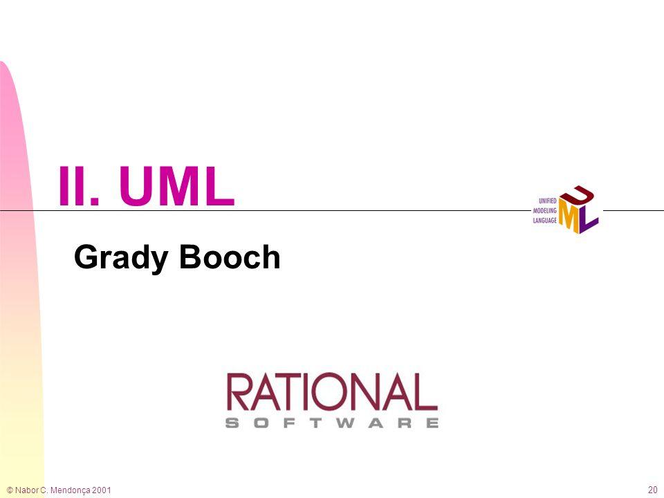 II. UML Grady Booch © Nabor C. Mendonça 2001