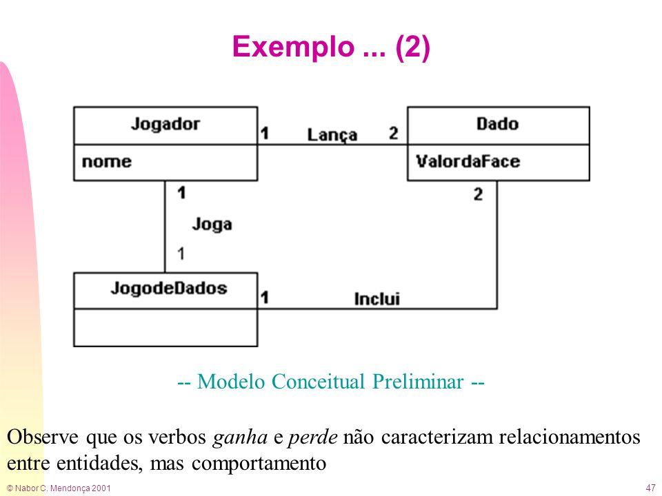 -- Modelo Conceitual Preliminar --