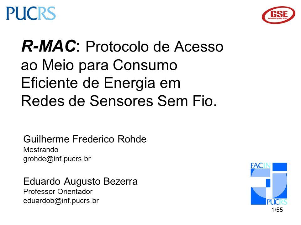 R-MAC: Protocolo de Acesso ao Meio para Consumo Eficiente de Energia em Redes de Sensores Sem Fio.