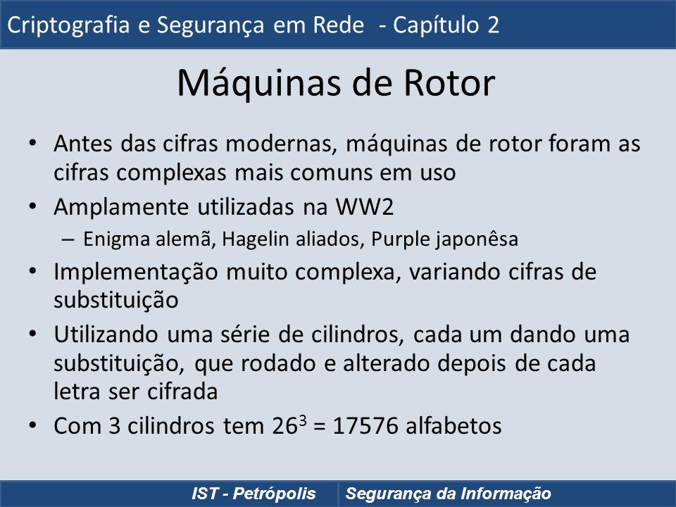 Máquinas de Rotor Criptografia e Segurança em Rede - Capítulo 2