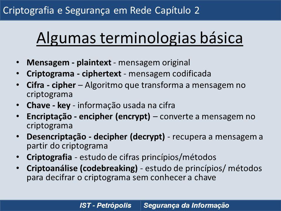Algumas terminologias básica