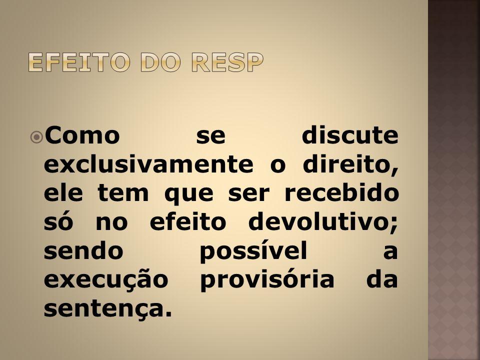 EFEITO DO RESP