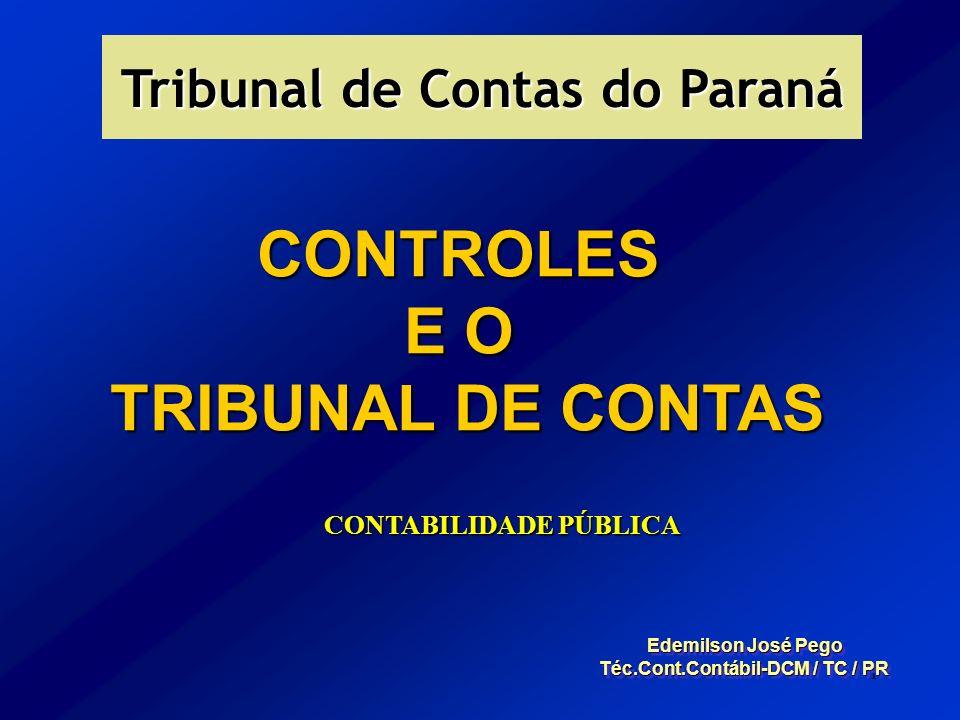 CONTROLES E O TRIBUNAL DE CONTAS