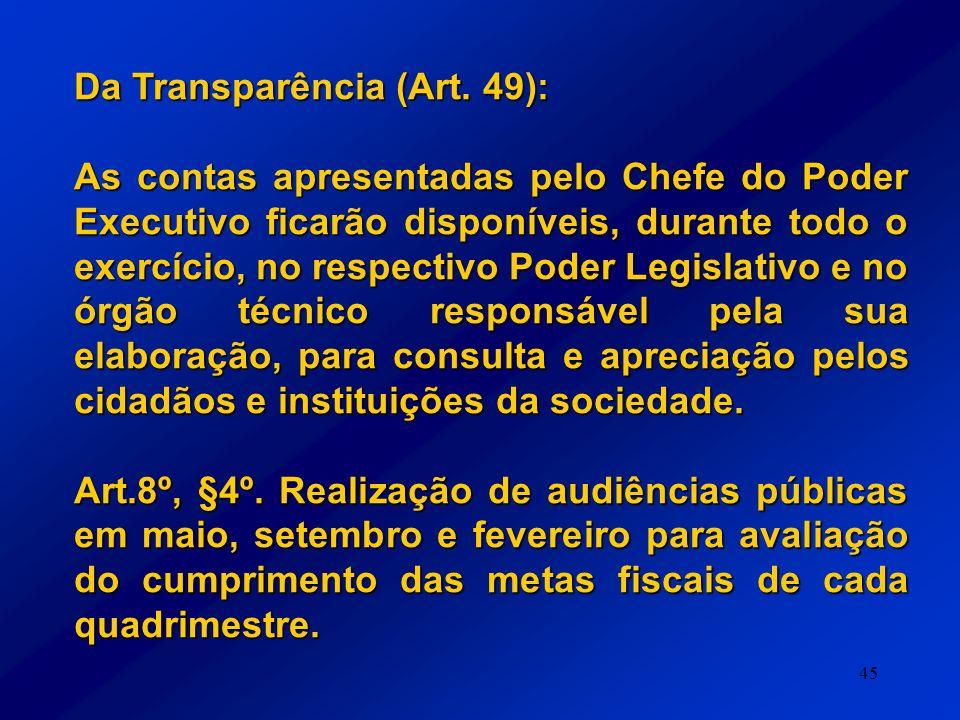 Da Transparência (Art. 49):