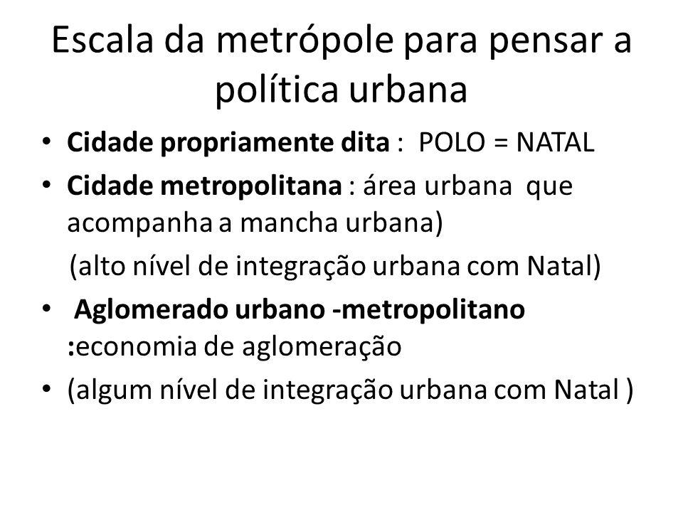 Escala da metrópole para pensar a política urbana