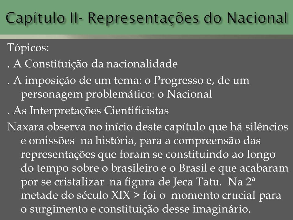 Capítulo II- Representações do Nacional