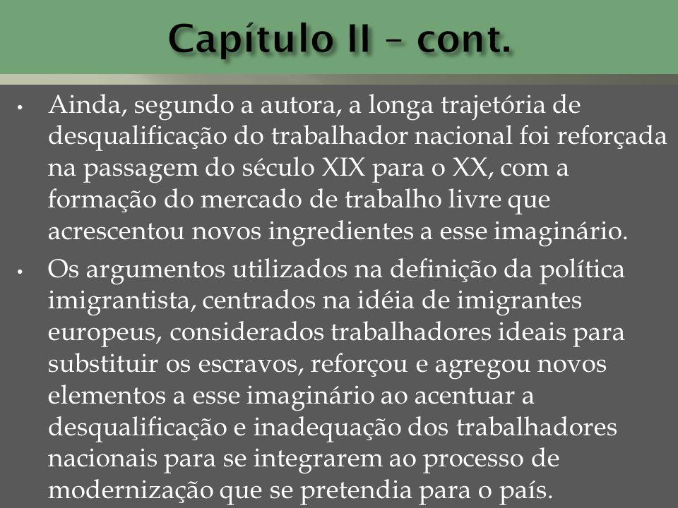 Capítulo II – cont.