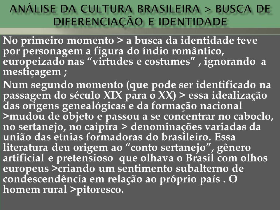 Análise da cultura brasileira > busca de diferenciação e identidade
