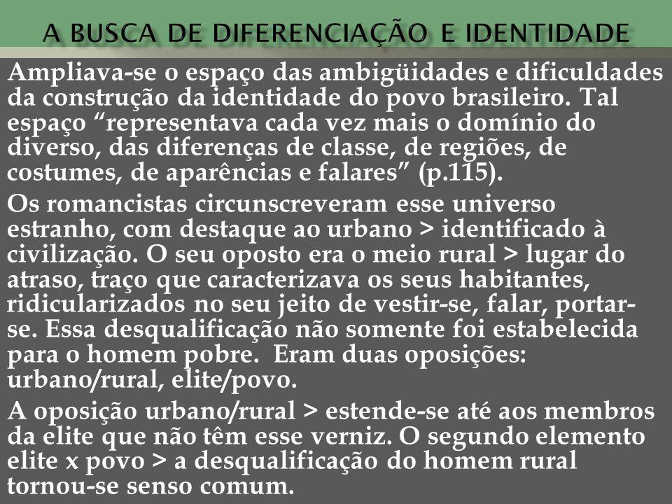 A busca de diferenciação e identidade
