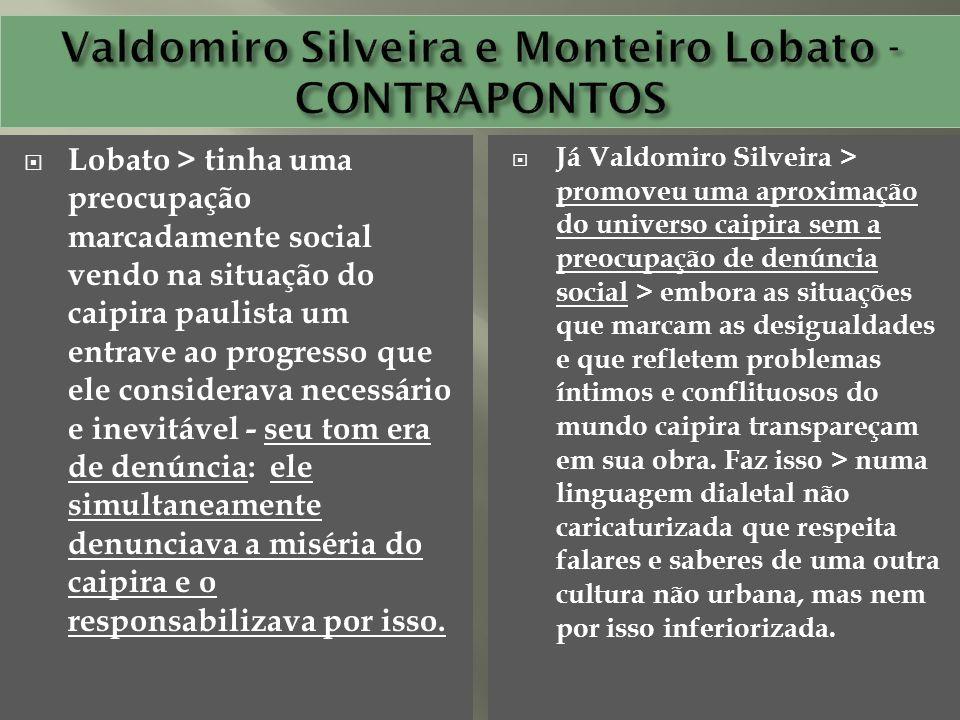 Valdomiro Silveira e Monteiro Lobato -CONTRAPONTOS