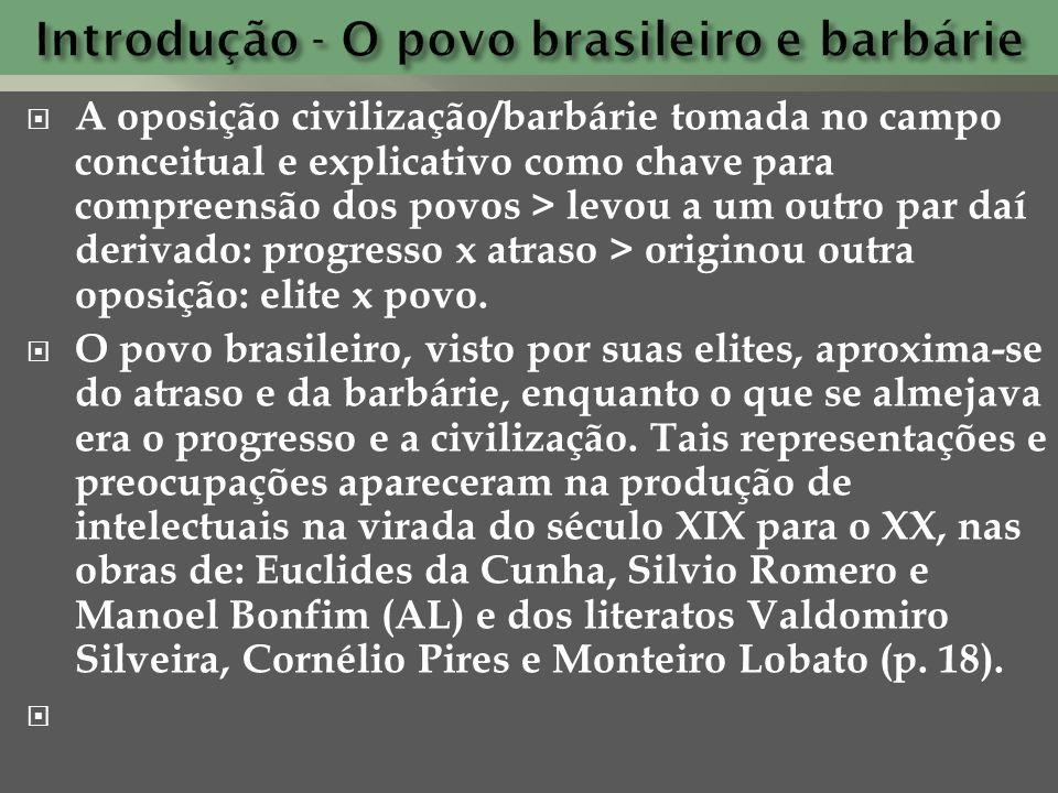 Introdução - O povo brasileiro e barbárie