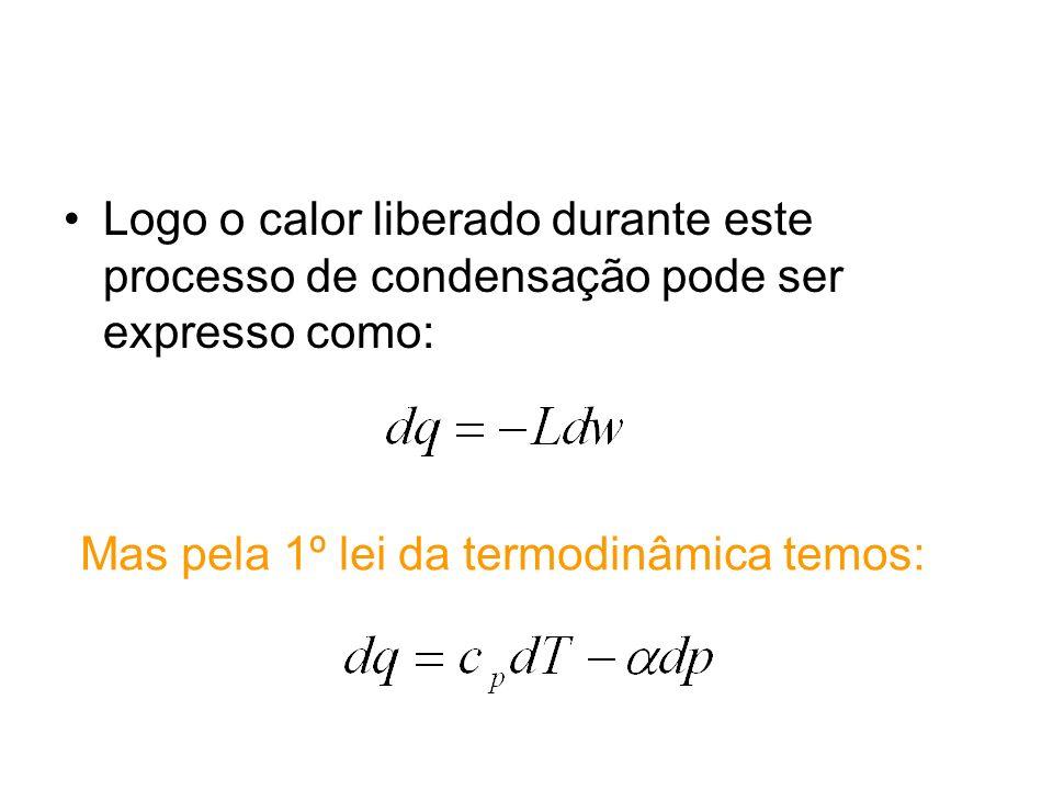 Mas pela 1º lei da termodinâmica temos: