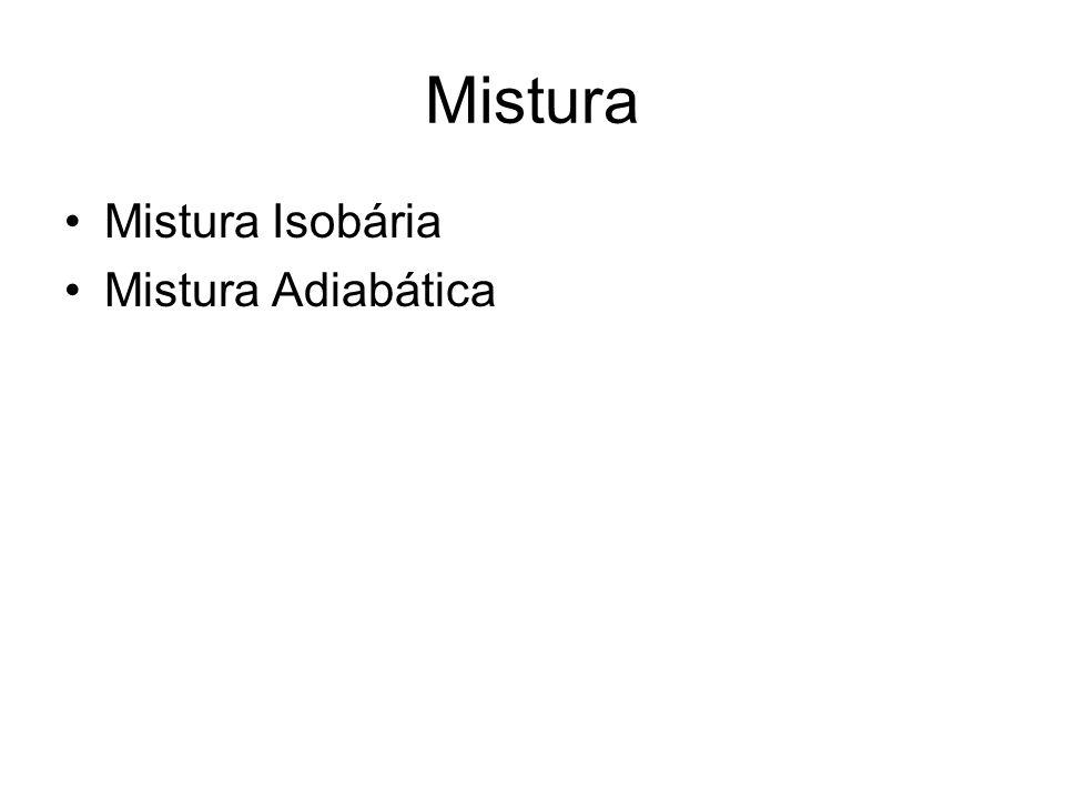 Mistura Mistura Isobária Mistura Adiabática