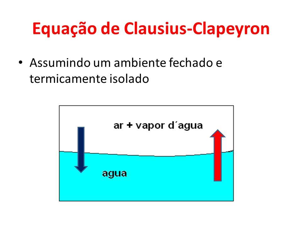 Equação de Clausius-Clapeyron