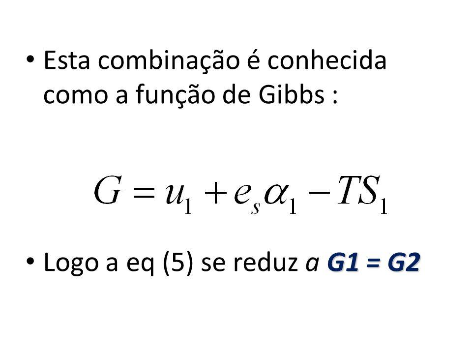 Esta combinação é conhecida como a função de Gibbs :