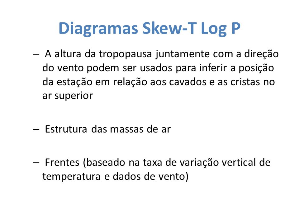 Diagramas Skew-T Log P
