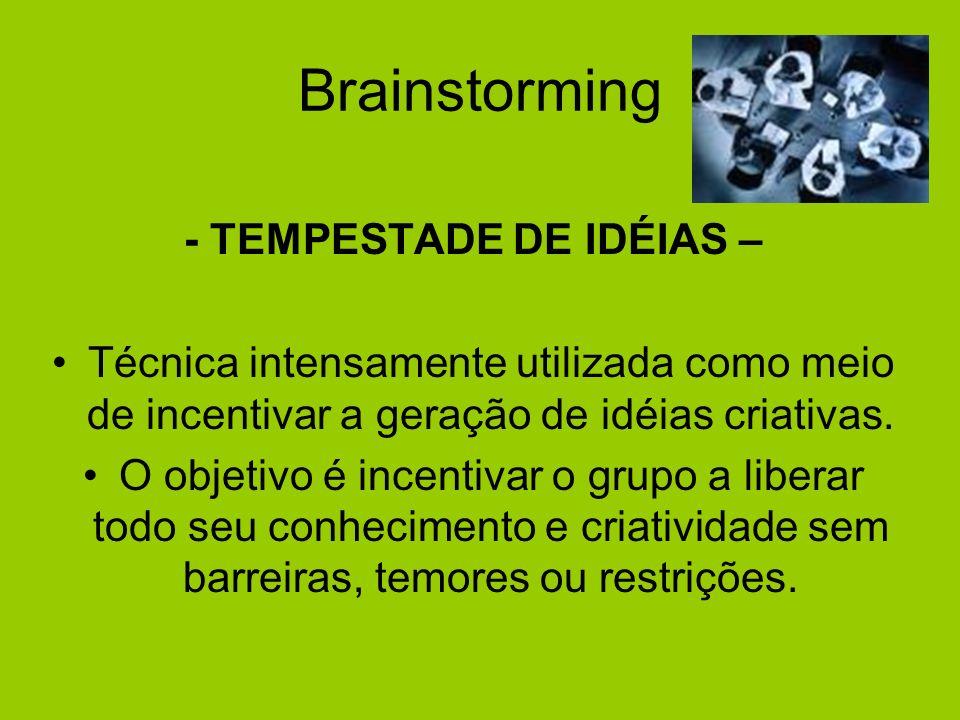 - TEMPESTADE DE IDÉIAS –