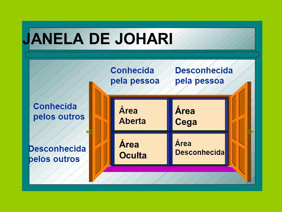 JANELA DE JOHARI Cega Oculta pela pessoa Conhecida pelos outros Área