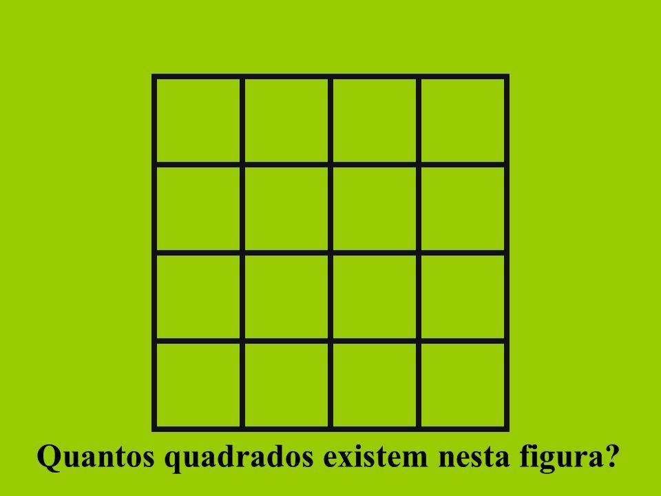 Quantos quadrados existem nesta figura