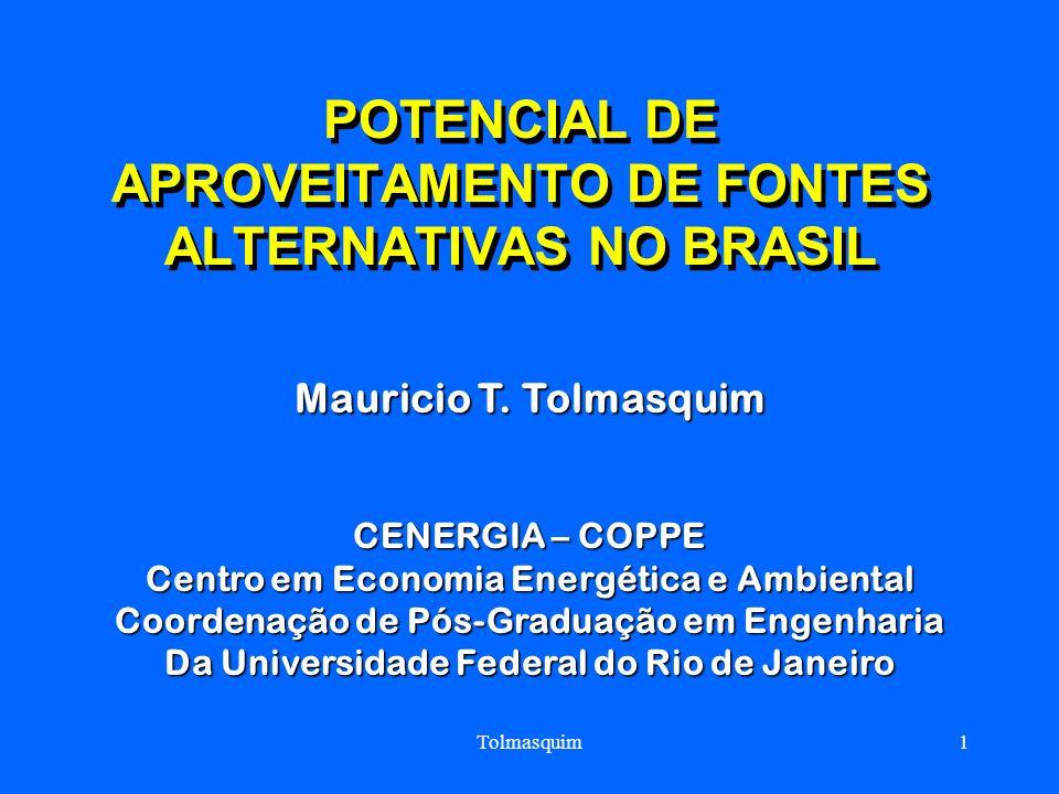 POTENCIAL DE APROVEITAMENTO DE FONTES ALTERNATIVAS NO BRASIL