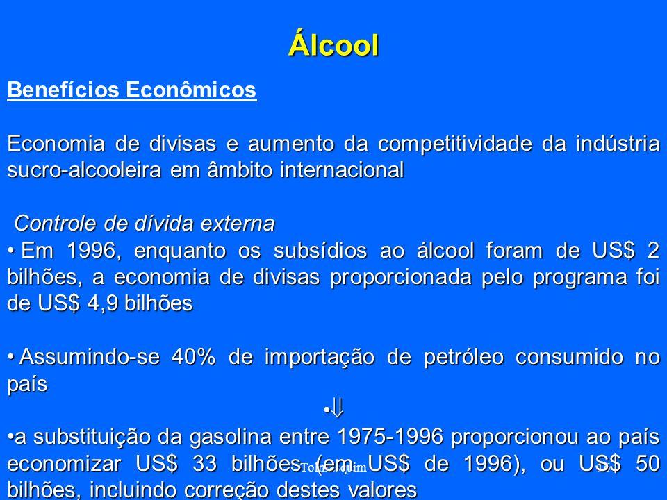 Álcool Benefícios Econômicos