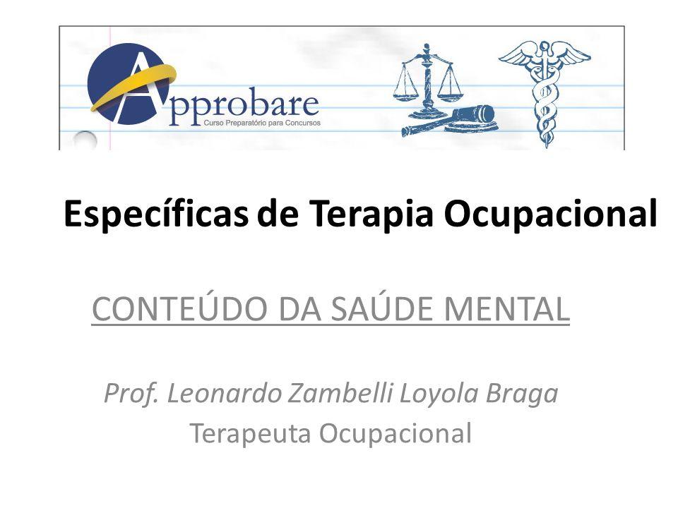 Específicas de Terapia Ocupacional