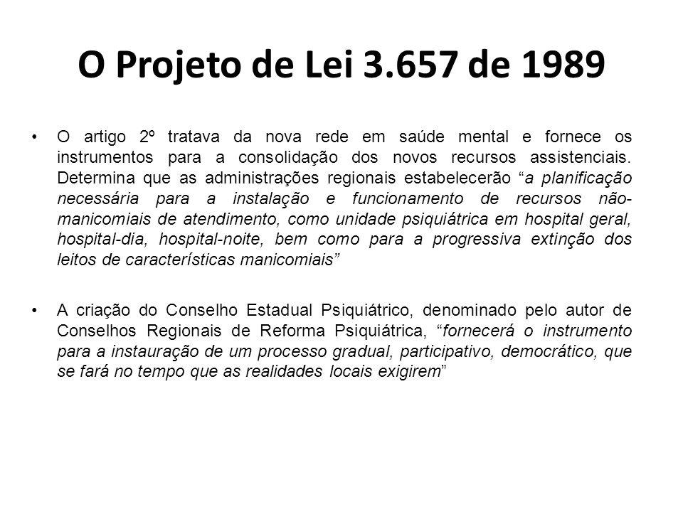 O Projeto de Lei 3.657 de 1989