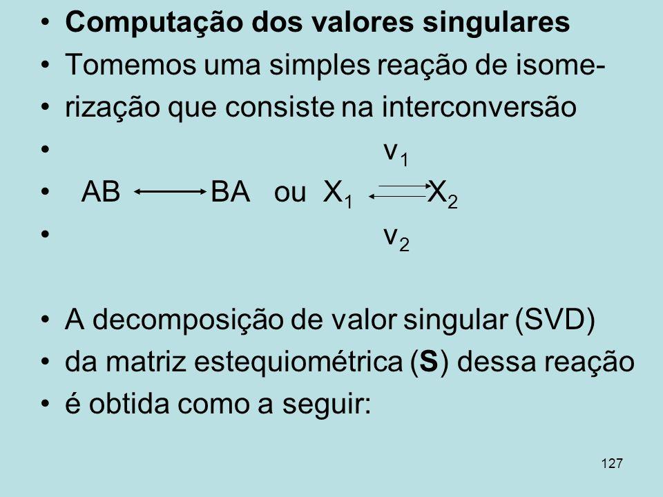 Computação dos valores singulares