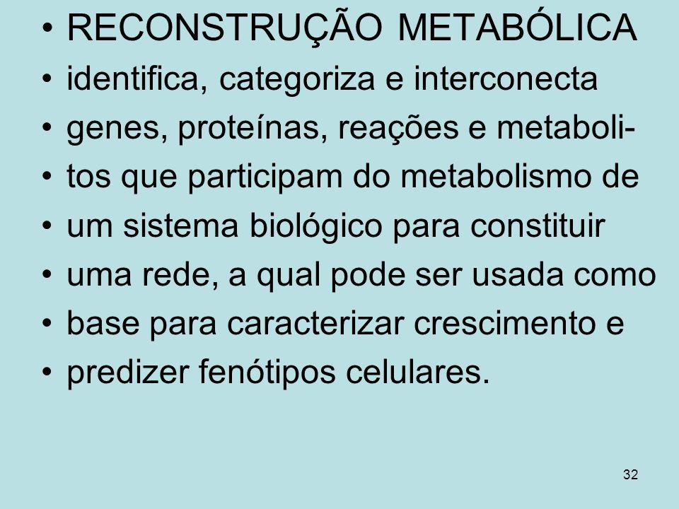 RECONSTRUÇÃO METABÓLICA