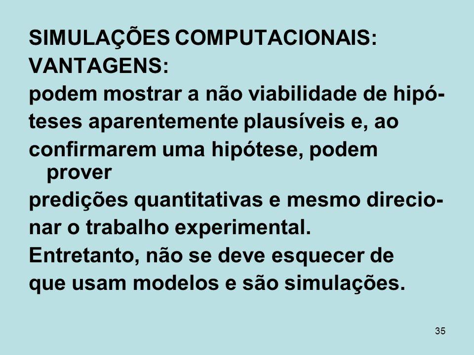 SIMULAÇÕES COMPUTACIONAIS: