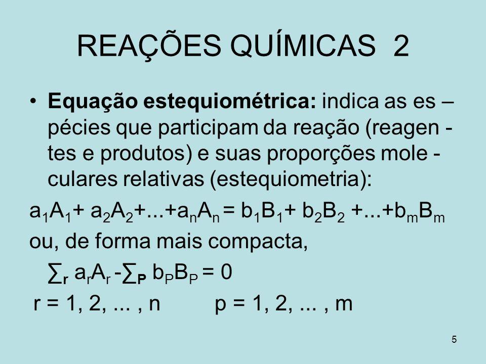 REAÇÕES QUÍMICAS 2