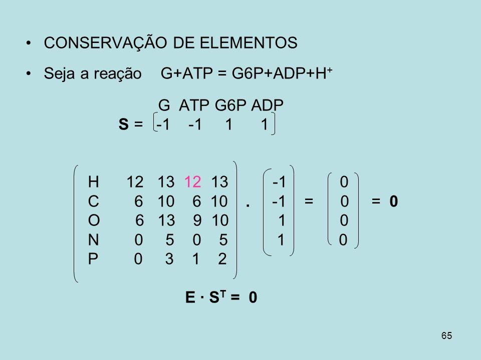CONSERVAÇÃO DE ELEMENTOS