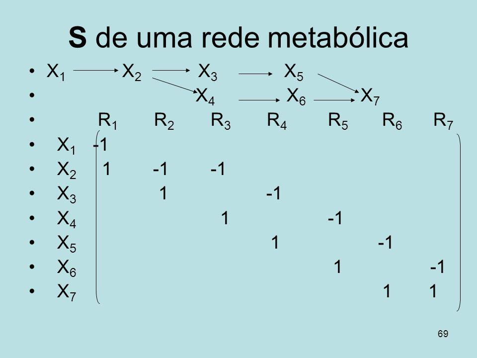 S de uma rede metabólica