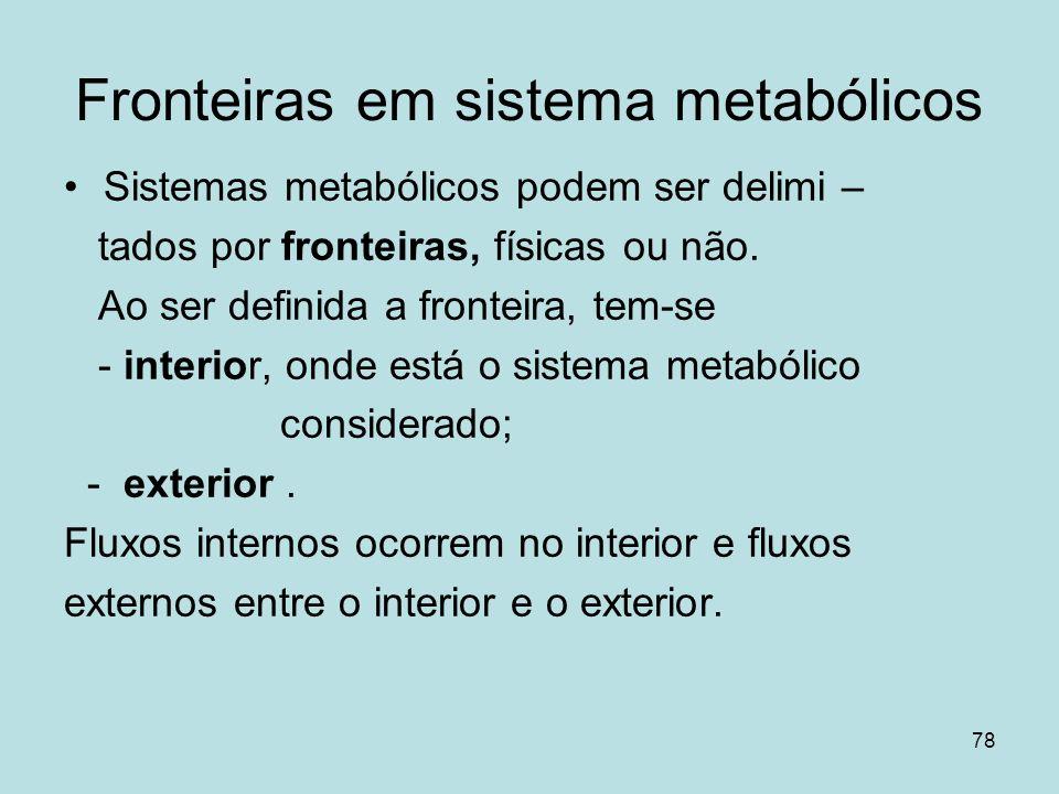 Fronteiras em sistema metabólicos