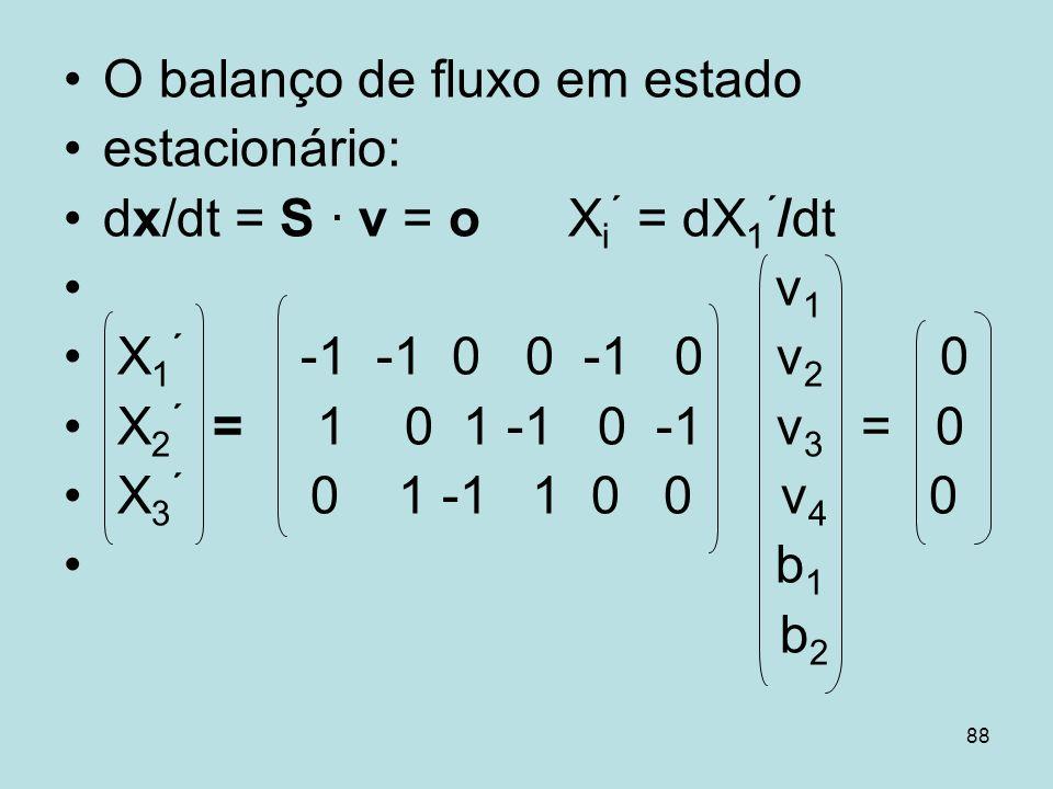O balanço de fluxo em estado