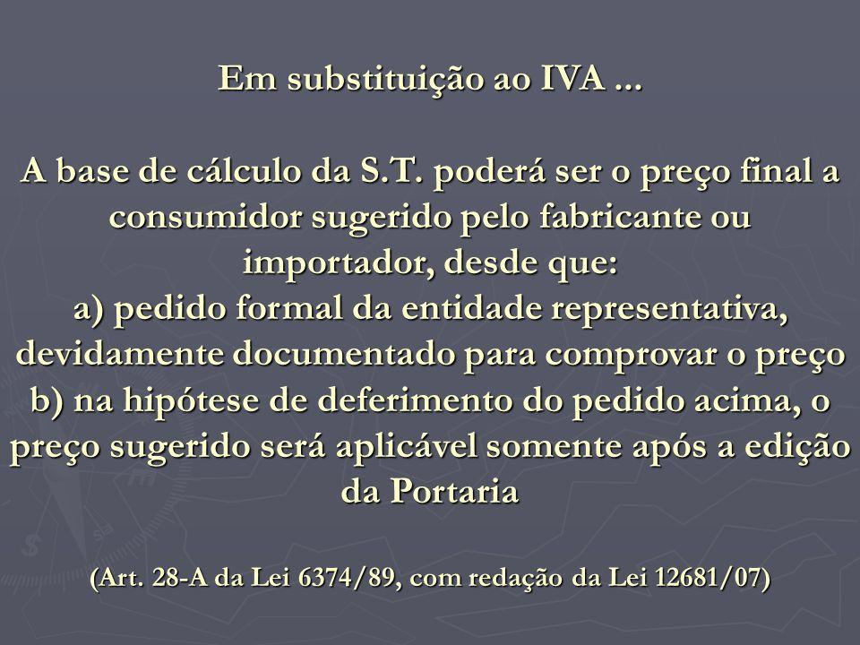 (Art. 28-A da Lei 6374/89, com redação da Lei 12681/07)