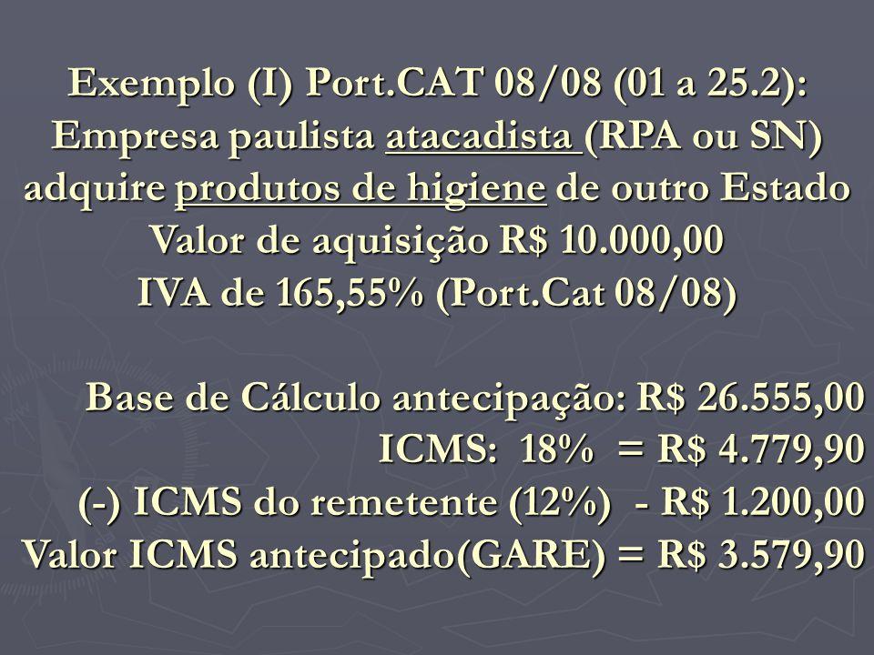 Exemplo (I) Port.CAT 08/08 (01 a 25.2):