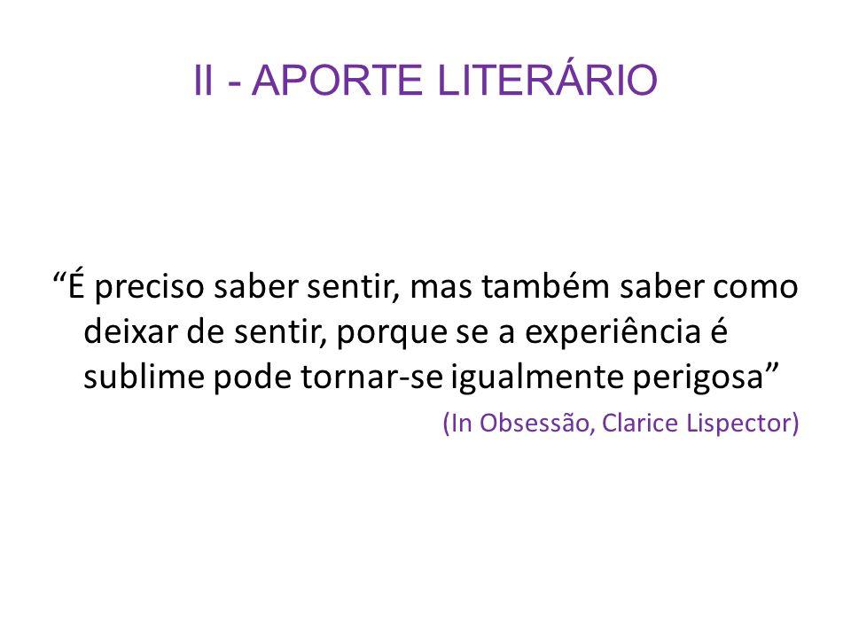 II - APORTE LITERÁRIO